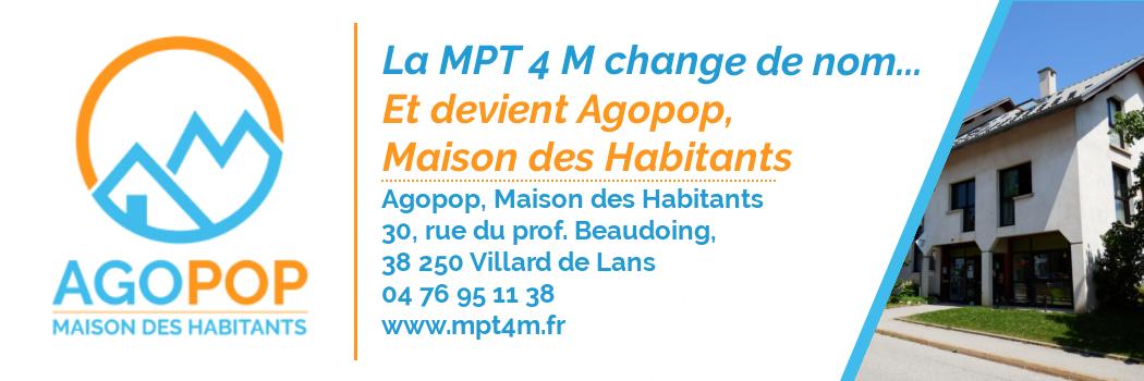 La MPT 4 M devient... Agopop Maison des Habitants !