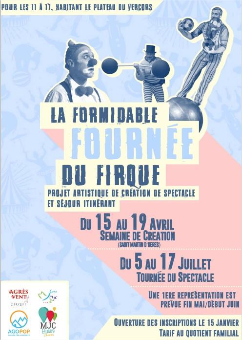 Séjour FFF : La Formidable Fournée du Firque, participez à un spectacle itinérant !