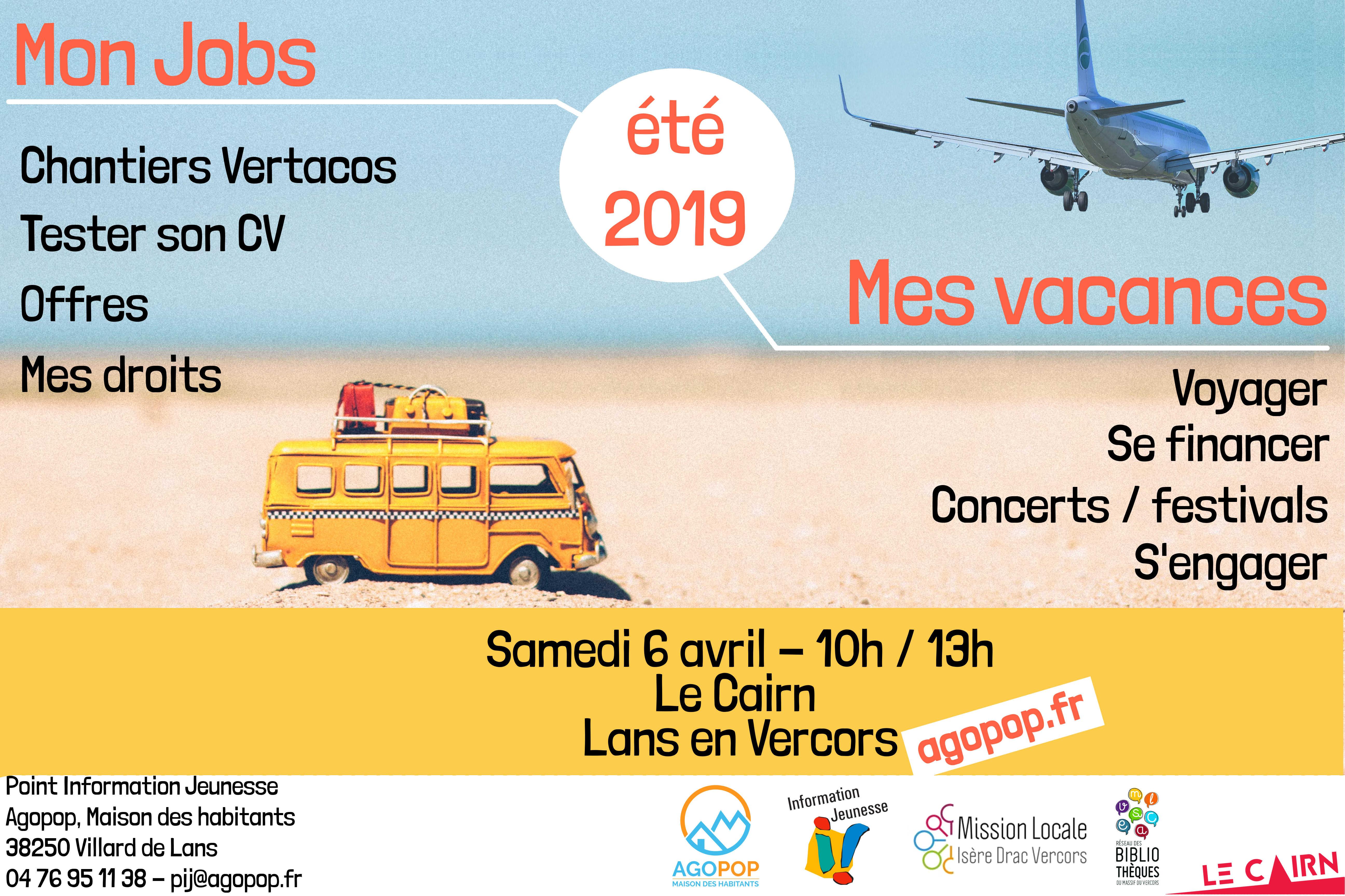 Été 2019 : un jobs et des vacances @ Le Cairn - Lans en Vercors