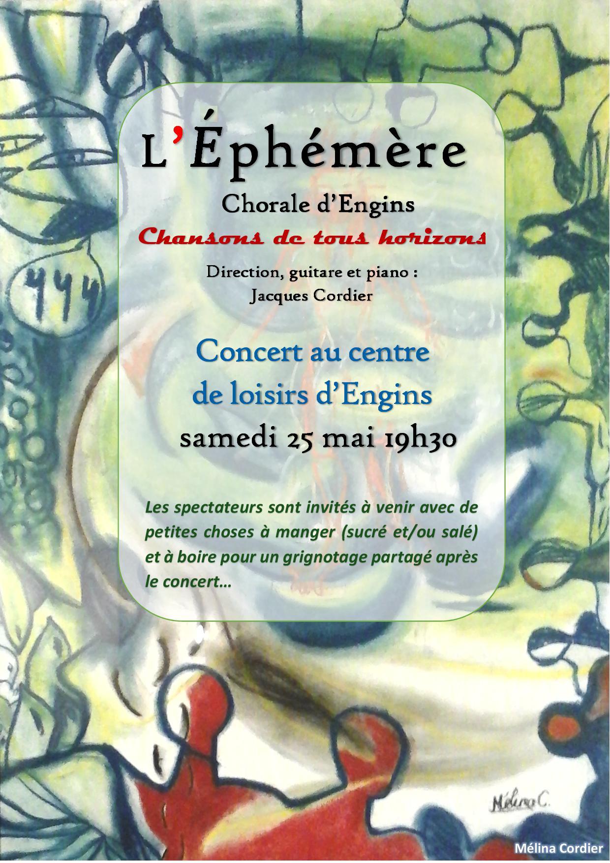 L'éphémère, chorale d'Engins - Chansons de tous horizons @ Agopop, Maison des habitants