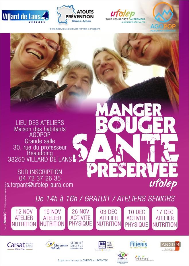 Manger ! Bouger ! Santé préservée - Atelier senior - Agopop