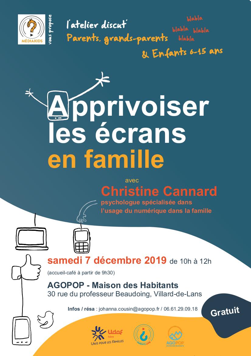 Apprivoiser les écrans en famille @ Agopop, Maison des Habitants
