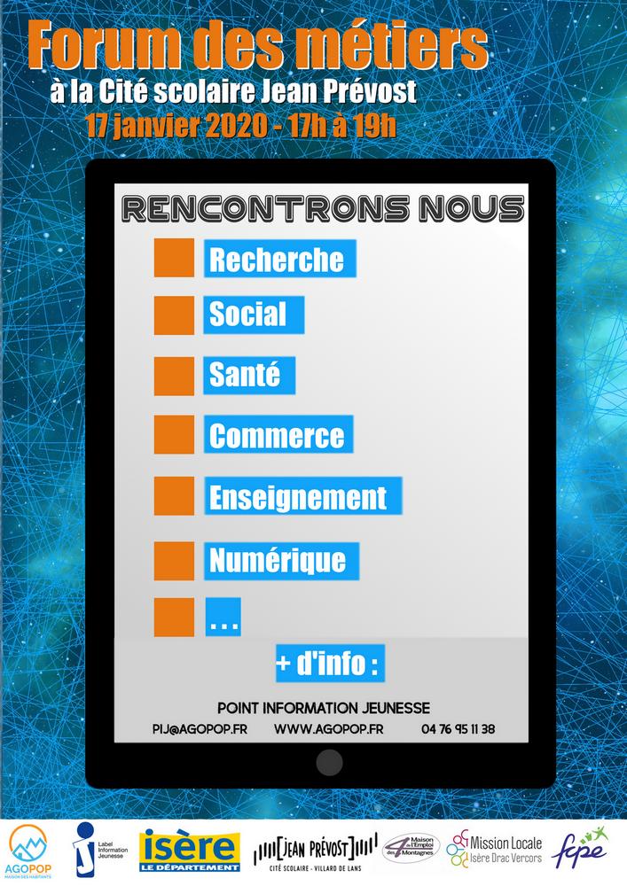 Forum des Métiers 2020 @ Cité Scolaire Jean Prévost