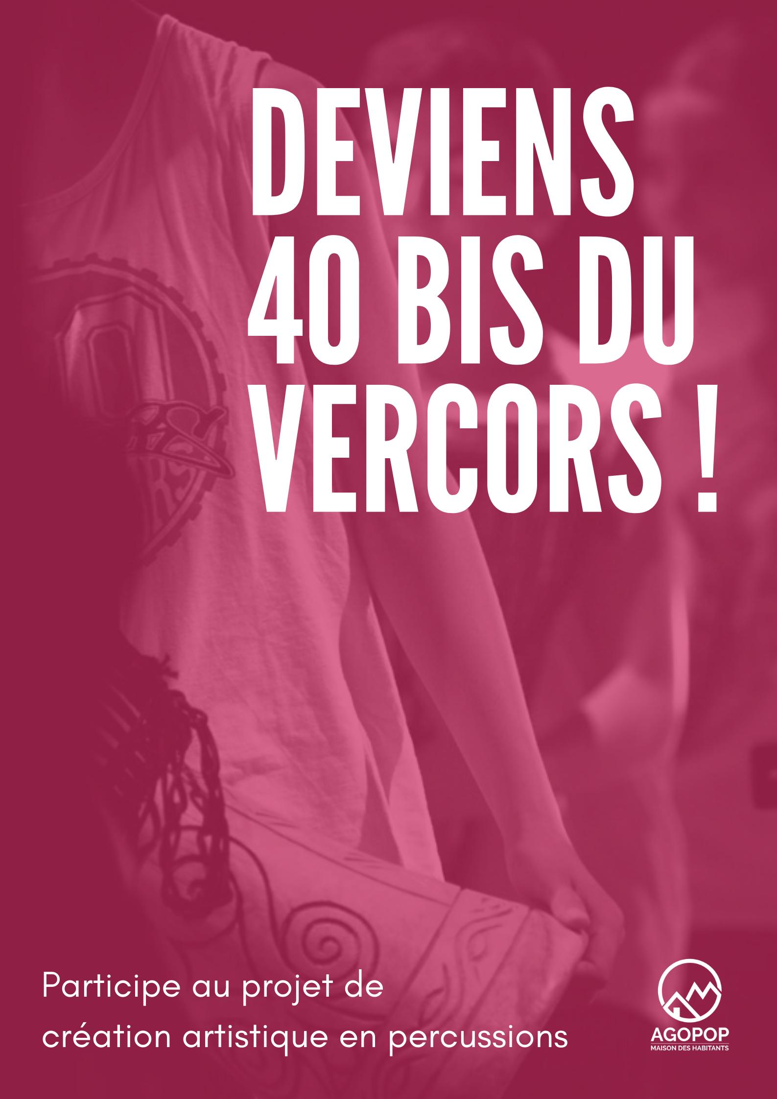 Démarrage des Ateliers Percussions : Deviens un 40 Bis du Vercors ! @ Agopop, Maison des Habitants