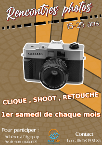 ANNULE Rencontre Photo : Shooting extérieur @ Agopop, Maison des Habitants