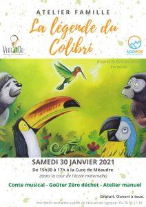 ANNULE Atelier famille : la légende du colibri @ Méaudre, la Cure (cour de l'école maternelle)