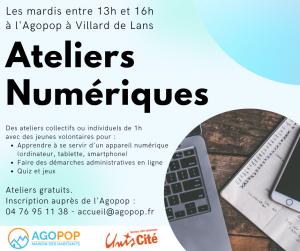 """Ateliers numériques avec """"Les Connectés"""" @ Agopop, Maison des Habitants"""