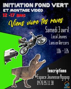 ANNULE Initiation fond vert et montage vidéo @ Local jeunes, Lans en Vercors