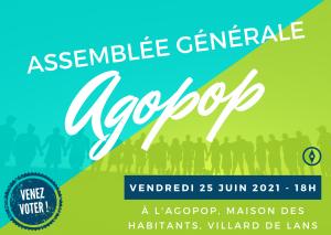 Assemblée Générale de l'Agopop @ Agopop, Maison des Habitants