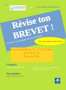 """""""Révise ton brevet !"""" : des ateliers d'accompagnement à la scolarité à la Cité Scolaire Jean Prévost @ Cité Scolaire Jean Prévost Villard de Lans"""