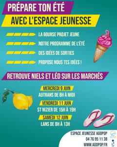 Prépare ton été avec l'Espace Jeunesse : marché d'Autrans @ Marché Autrans