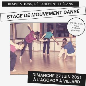 Stage de mouvement dansé @ Agopop, Maison des Habitants