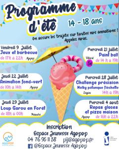 Animation jeunesse : repas glaces et pizza maison @ Agopop, Maison des Habitants