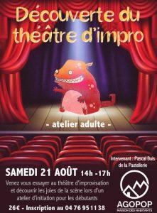 Découverte du théâtre d'impro @ Agopop, Maison des Habitants