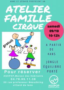 Familles : Atelier cirque @ Agopop, Maison des habitants