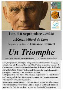 """Ciné Rencontre autour du film """"Un triomphe"""" @ Cinéma Le Rex Villard de Lans"""